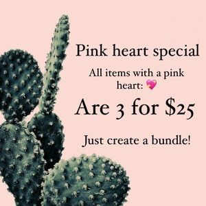 Pink heart special💖 3 for $25